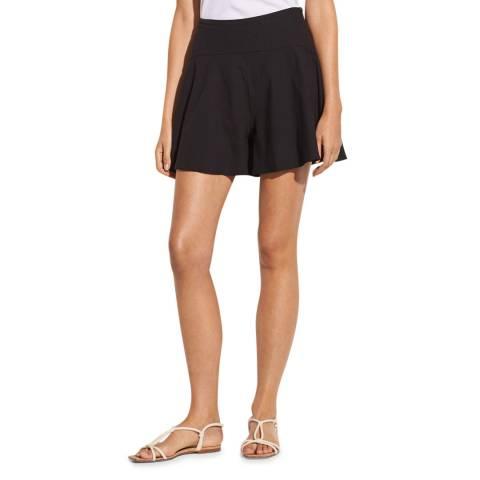 Vince Black Flounce Linen Blend Shorts