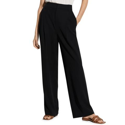 Vince Black Tailored Wide Leg Trousers