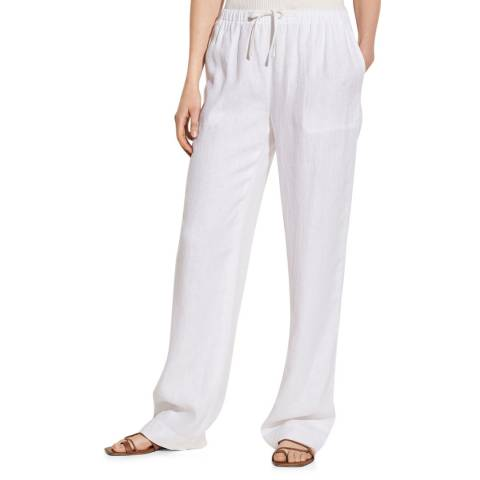 Vince White Hemp Pull On Trousers
