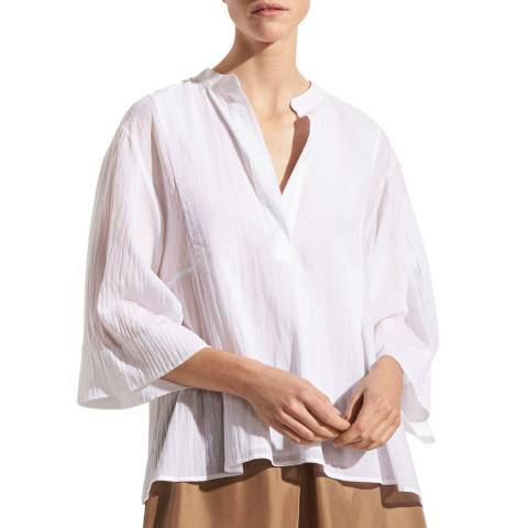 Vince White Relaxed Cotton Shirt