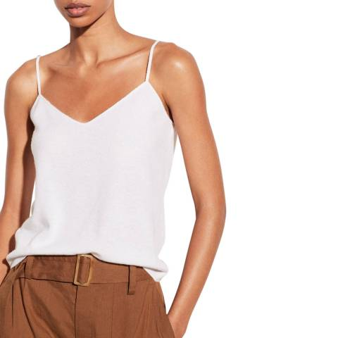 Vince White Cashmere Tank Top
