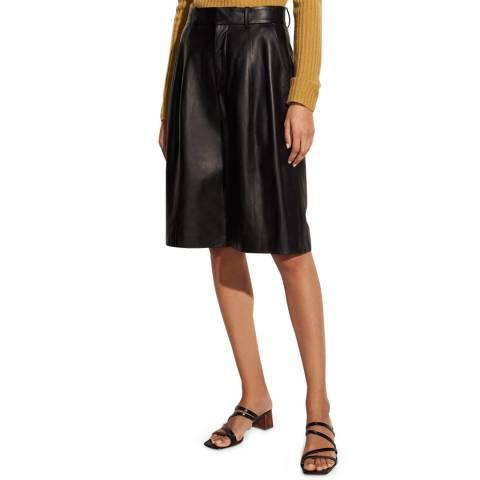 Vince Black Leather Shorts