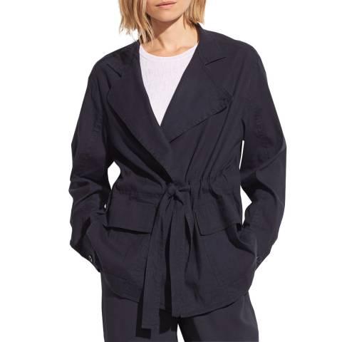 Vince Midnight Drapey Linen Blend Jacket