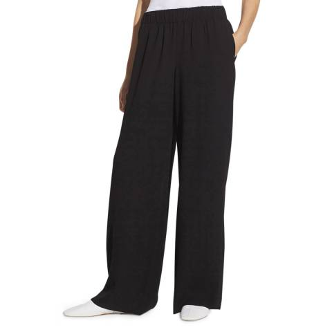 Vince Black Wide Leg Pull On Trousers