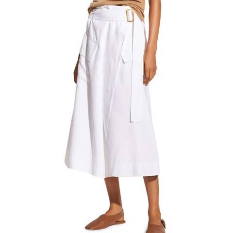 Vince White Wrap Midi Utility Skirt