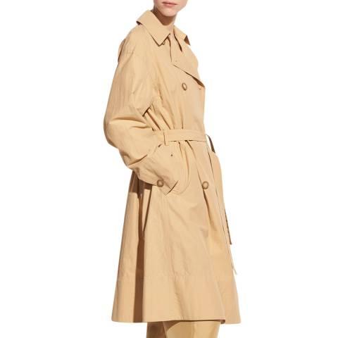 Vince Sand Drapey Tech Cotton Blend Trench Coat