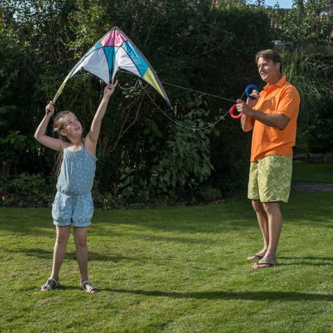 Traditional Garden Games Stunt Kite 120cm