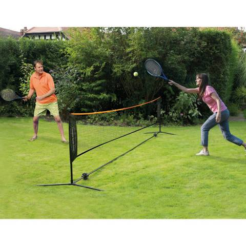 Traditional Garden Games 4 Player Tennis Set with 6m Net