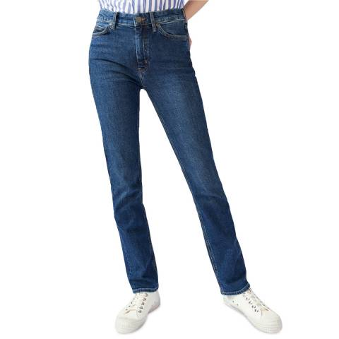 M.i.h Jeans Blue Daily High Straight Stretch Jeans