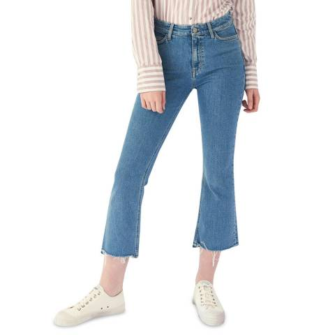 M.i.h Jeans Blue Marty High Flare Stretch Jeans