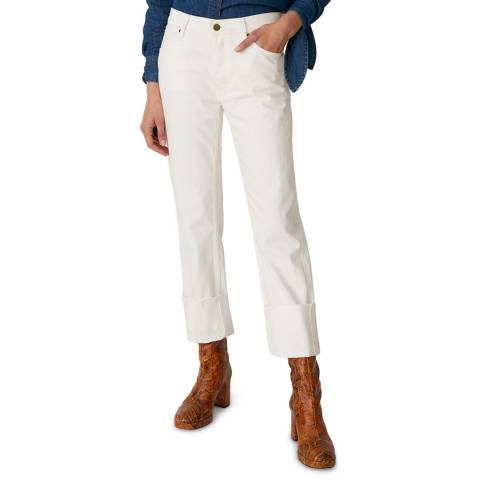 M.i.h Jeans White Phoebe Mid Slouch Stretch Jeans