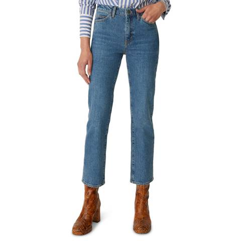 M.i.h Jeans Blue Daily High Crop Stretch Jeans