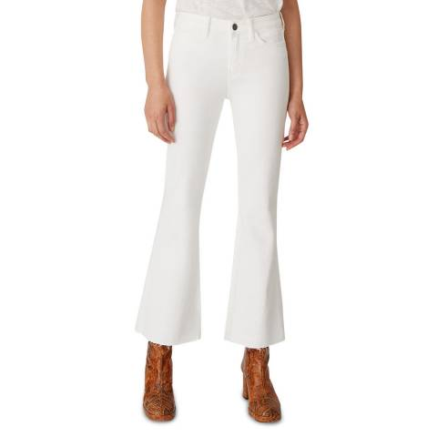 M.i.h Jeans White Lou Mid Flare Stretch Jeans