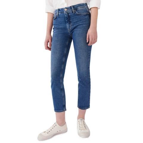 M.i.h Jeans Blue Niki High Crop Stretch Jeans