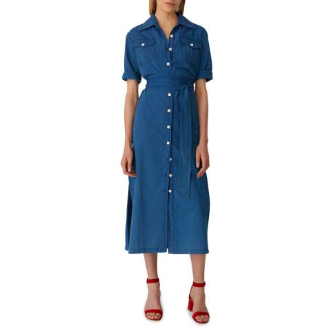 M.i.h Jeans Blue Elise Cotton Midi Dress