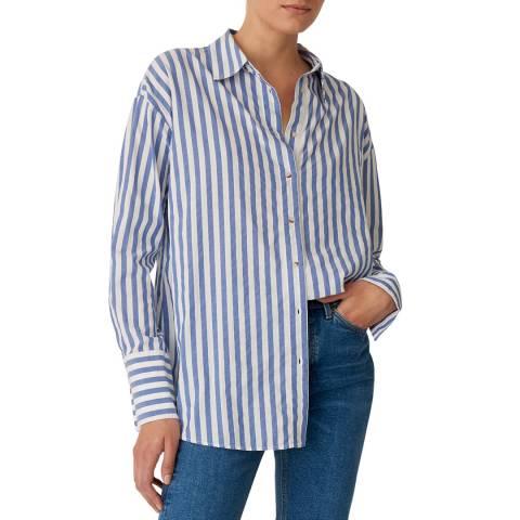 M.i.h Jeans Blue Oversize Cotton Shirt