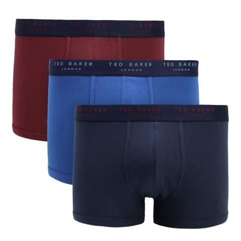 Ted Baker Navy/Red/Blue3 Pack Patterned Trunk