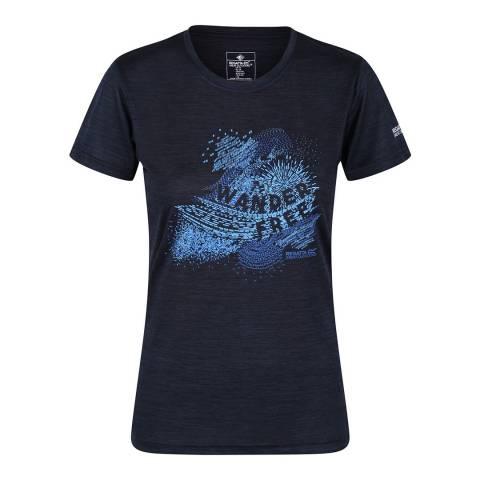 Regatta Navy Marl Fingal V T-Shirt