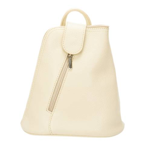 Lisa Minardi Beige Leather Crossbody Bag