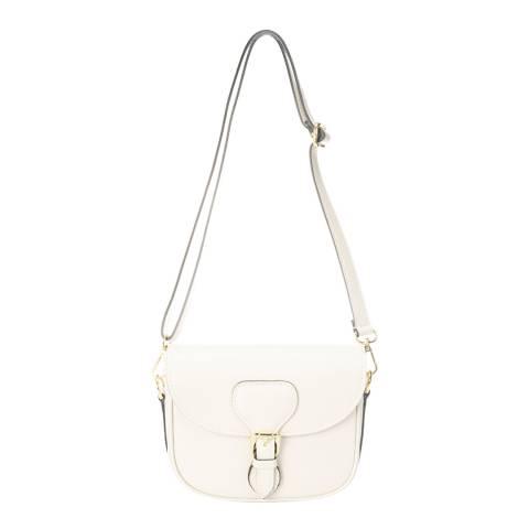 Lisa Minardi Beige Leather Top Handle Bag