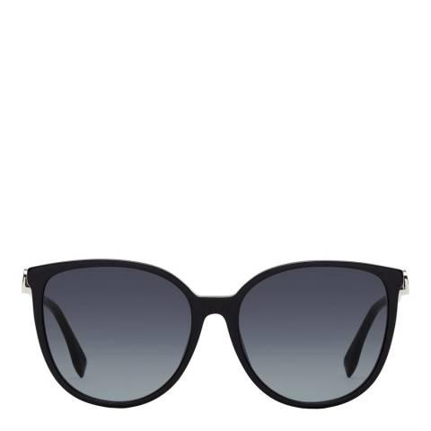 Fendi Women's Black/Grey Fendi Sunglasses 58mm