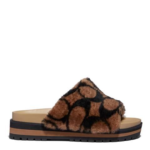 Coach Black Khloe Sandals