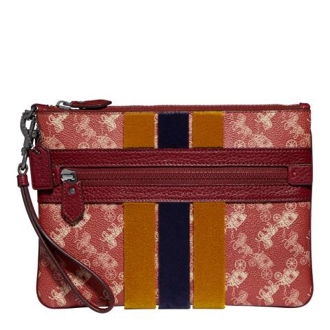 Coach Deep Red Large Wristlet