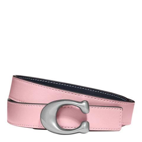 Coach Pink Leather C Belt