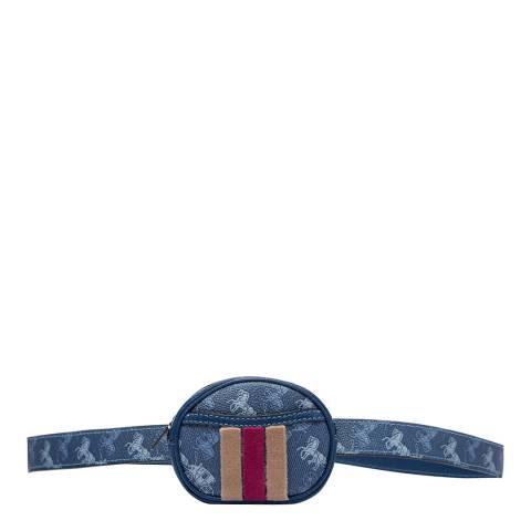 Coach Blue Harness Belt Pouch
