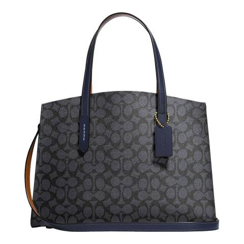 Coach Charcoal Midnight Navy Charlie Carryall