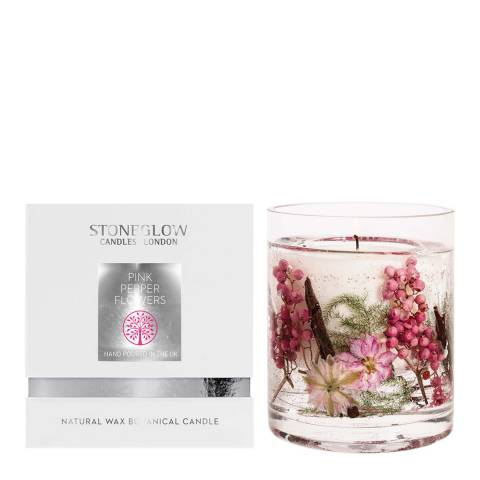 Stoneglow Candles Pink Pepper Flowers, Natural Wax Gel Candle