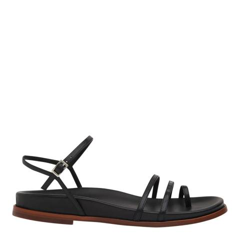WHISTLES Black Isobel Strappy Footbed Sandals
