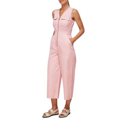 WHISTLES Pink Nettie Utility Jumpsuit