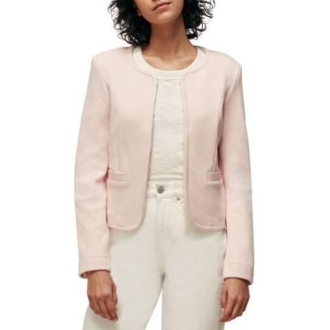 WHISTLES Pink Collarless Cotton Jacket
