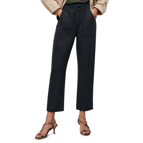 WHISTLES Black Tia Relaxed Trousers