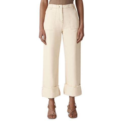 WHISTLES Ivory Fray Hem Jeans