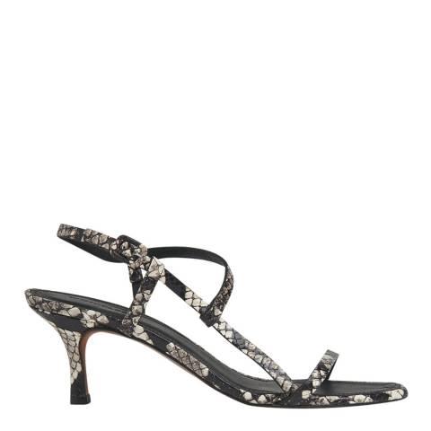 WHISTLES Snake Print Milana Asymmetric Sandals