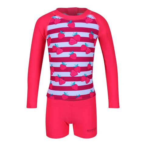 Regatta Neon Pink Valo Rash Suit