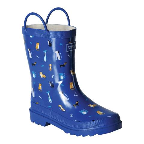 Regatta Boy's Petrol Blue Minnow Wellies