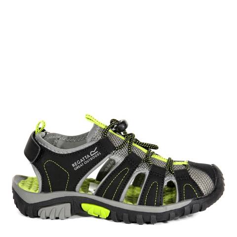 Regatta Black & Lime Green Westshore Sandals