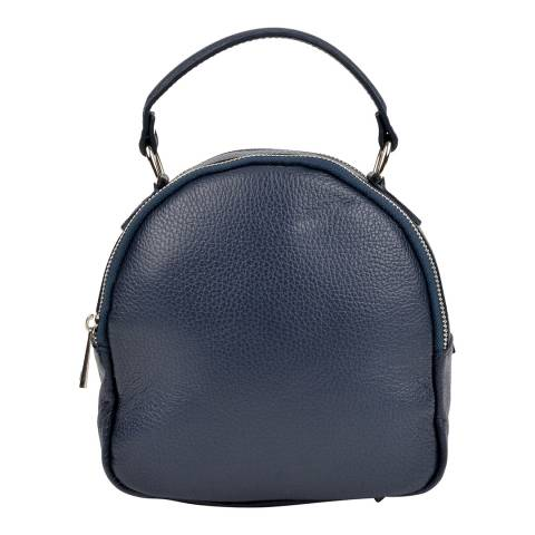 Isabella Rhea Navy Leather Backpack