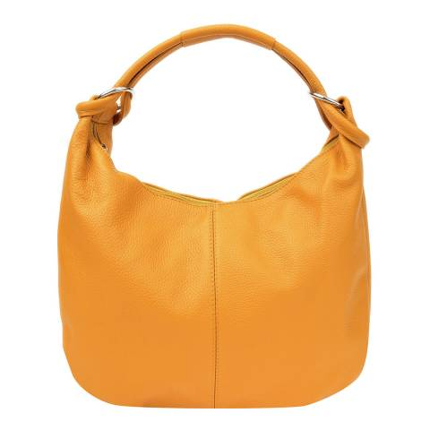 Roberta M Yellow Leather Shoulder Bag