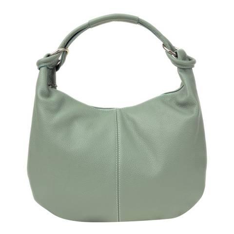 Roberta M Green Leather Shoulder Bag