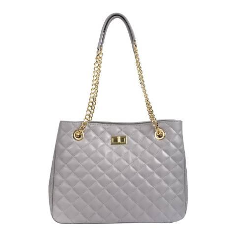 Isabella Rhea Grey Leather Shoulder Bag