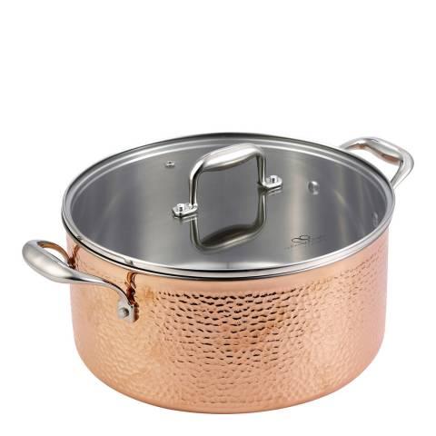 Bergner Infinity Chefs Copper Casserole Pot, 28cm