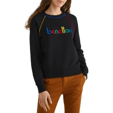 United Colors of Benetton Black Logo Sweatshirt