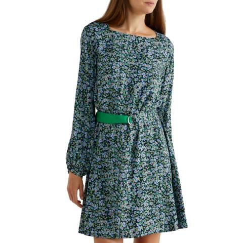 United Colors of Benetton Multi-Colour Floral Dress