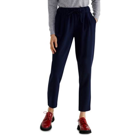 United Colors of Benetton Blue Drawcord Waist Chinos