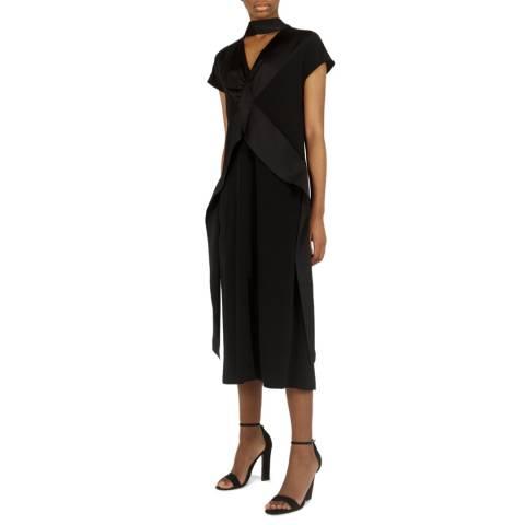 VICTORIA, VICTORIA BECKHAM Black Diamond Drape Dress