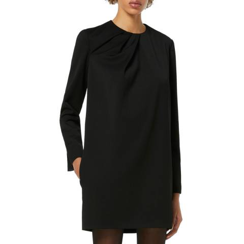 VICTORIA, VICTORIA BECKHAM Black Draped Neckline Dress